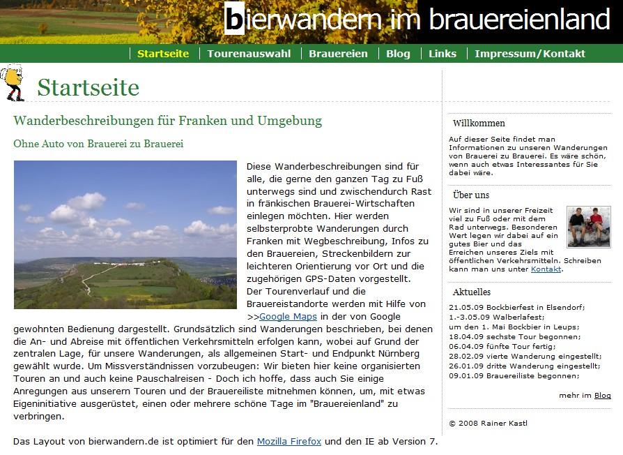bierwandern.de seit November 2008