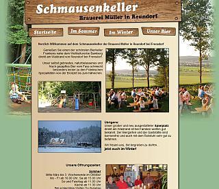 Website der Brauerei Müller / Reundorf