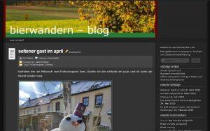 Altes Design des bierwandern-blog